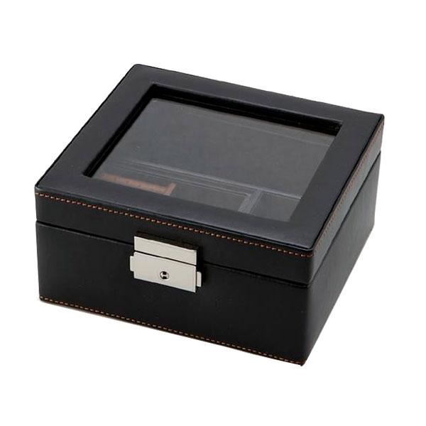 アクセサリーボックス腕時計ケース 茶谷産業LAVITAIDEALE(ラヴィータイデアーレ)メンズボックスM240-575BK