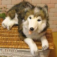 犬置物シベリアンハスキービッグサイズ大きくてリアルな犬のぬいぐるみいぬイヌドッグ動物アニマルオブジェ雑貨フィギュアモチーフインテリア玄関癒しモフモフもふもふ