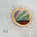 「アラログフラワーミラーL」春特集 鏡 ミラー フラワー インテリア 花 フラワー 壁 自然素材 ナチュラル アラログ フラワーミラー