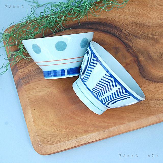 「アロー・グレードット ペアくらわんか碗セット」波佐見焼き 波佐見焼 日本製 JAPAN ギフト お祝い お返しギフト 御茶わん お茶碗 お茶わん 食器