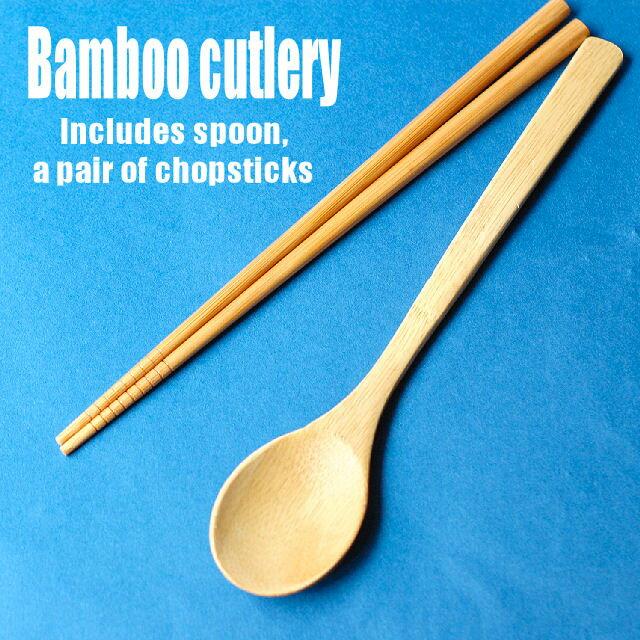 「Bambooカトラリー ハシ&スプーンセット」バンブー 箸 お箸 はし スプーン キャンプ アウトドア【コンパクト対応6個まで・ネコポスOK 3個まで】