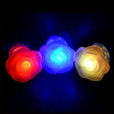 【フラッシュリング】光る 指輪 LED 光るロイヤルリング 景品 ノベルティ 玩具 かわいい バラ パール 女の子 アクセサリー ゆびわ 指輪 光る 夜 ピカピカ おもしろ雑貨 ザッカ ビンゴ景品 バザー
