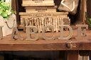 【メール便対応可】ウッドアルファベットウッデンレター 木製アルファベット アルファベットオブジェ 切り文字アルファベット置物 ナチュラル ブラウンWOOD 【A〜Nまで】の写真