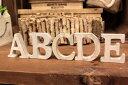 【メール便対応可】ウッドアルファベット 切り抜き文字ウッデンレター 木製アルファベット アルファベットオブジェ アルファベット置物 切り文字ナチュラル ホワイトWOOD 【A〜Nまで】