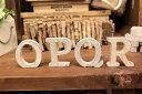 【メール便対応可】ウッドアルファベット 切り抜き文字 くりぬき文字ウッデンレター 木製アルファベット アルファベットオブジェ アルファベット置物 切り文字 ナチュラル ホワイトWOOD 【O〜Zまで】の写真