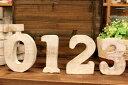ボリュームあり!ウッドナンバー 数字 Mサイズ 切り抜き文字 切り文字くりぬき文字 ウッドナンバー ウッデンレター 木製ナンバー ナチュラル ホワイト WOODの写真