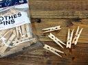 木製クロスピンS 50個入 木製ピンチ 洗濯ばさみ クリップ 木製 インテリア【開店セール1212】【RCP】の写真