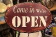 【メール便対応可】アンティーク調 アメリカン調 ティンプレート ブリキプレート サインプレートオープン/クローズ OPEN/CLOSE オープンプレート