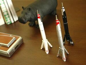 """ユニークなロケット型の卓上ボールペン。デスクのポイントに!【 Ballpoint pen """"desk top rock..."""