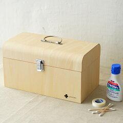 シンプルに美しいデザインの木製救急箱。 薬箱 / クスリ箱 / 小物入れ / ソーイングボックス /...