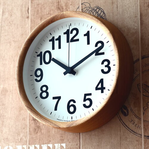 掛け時計Clock A クロックA YK14-05 掛時計 木目...