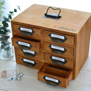 救急箱メディスンボックス木製おしゃれ薬箱セットお薬かわいい薬入れ薬ケースメディスンボックス小物入れメディシンチェスト
