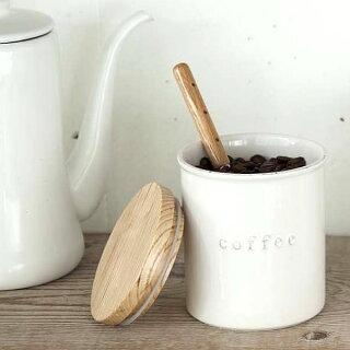 調味料入れ陶器キャニスタートスカtoscaシュガーソルトコーヒー砂糖塩珈琲紅茶陶器保存容器キッチン雑貨木ナチュラル北欧おしゃれ山崎実業YAMAZAKI