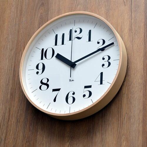 掛け時計 電波時計riki clock RC リキクロック WR08-27 北欧 渡辺力 壁掛け時...