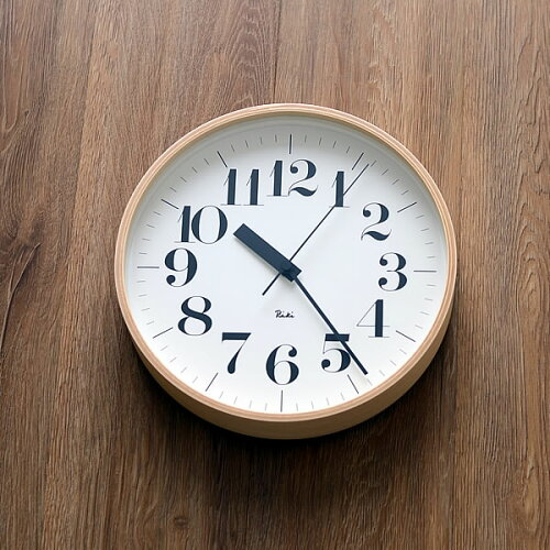 電波時計(レムノス RIKIクロック WR07-11) 掛け時計 壁掛け時計
