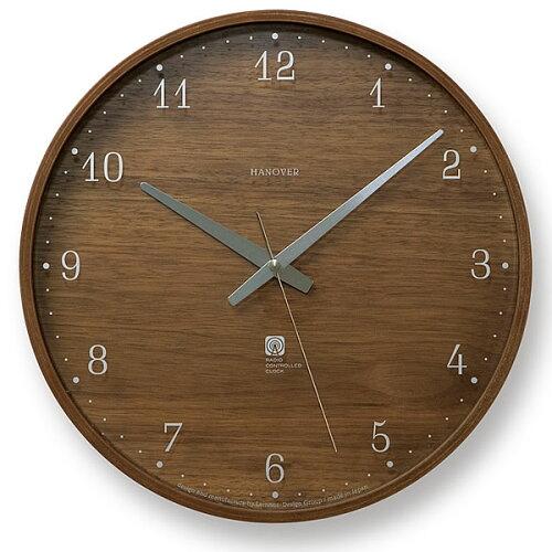 掛け時計 Lemnos レムノス BROWNIE ブラウニー Lサイズ掛け時計 PC07-04L 電波時...