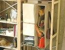 クローゼットの空いたスペースを上手に利用♪吊るす収納のバッグラック・布製・カバン用収納ラ...