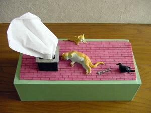 [レビューを書いて3%OFF]おもしろ生活雑貨-面白ティッシュボックスケース-ネコのお昼寝【楽...