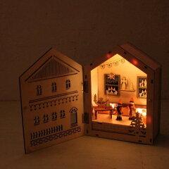 本を開けばクリスマスの物語が始まりそう!クリスマス プレゼント インテリア 木製 ライト イル...