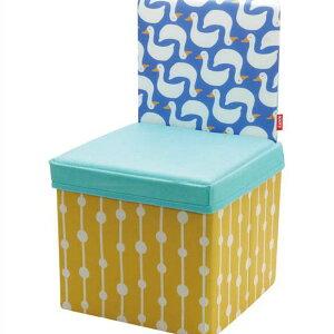 kicky ストレージチェア アヒル キッズチェア 椅子 スツール ボックス 収納 折りたたみ おもちゃ箱 子供
