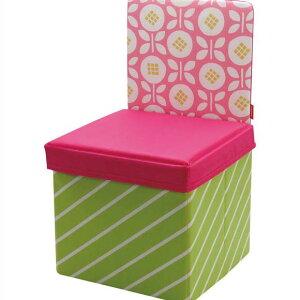 kicky ストレージチェア フラワー キッズチェア 椅子 スツール ボックス 収納 折りたたみ おもちゃ箱 子供