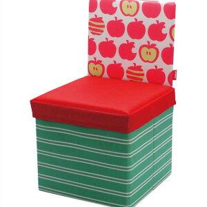 kicky ストレージチェア リンゴ キッズチェア 椅子 スツール ボックス 収納 折りたたみ おもちゃ箱 子供 送料込