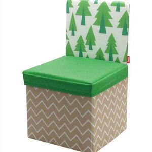 キッズチェア 椅子 スツール ボックス 収納 折りたたみ おもちゃ箱 子供kicky ストレージチェア ツリー 送料込