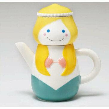 ティーポット かわいい ティーカップセット マグカップ 急須 陶器 人魚姫 ティーフォーワン