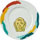 おもしろ雑貨 フェイスディッシュ ムンクの叫び おもしろ プレゼント ランチプレート 陶器 パスタ皿 パスタプレート 皿 白
