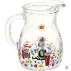 MOOMIN クッカ・ピッチャー(S) リトルミイ&ミムラ姉サン ムーミン ピッチャー ガラス おしゃれ 麦茶ポット 水差し お茶ポット 冷水筒