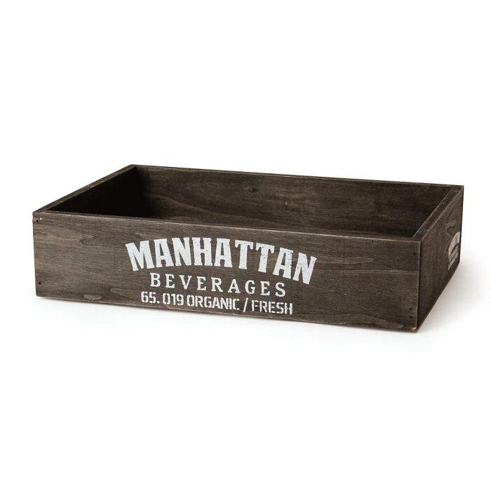 ウッドハーベストボックス スタッカブル マンハッタン M 木箱 アンティーク 収納ボックス ウッドボックス 収納ケース おしゃれ アメリカ 雑貨 アメリカン雑貨