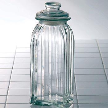 グラスジャー スレンダー (L) 保存容器 ガラス 調味料入れ 米びつ 保存容器 密閉 ガラス容器 ガラス 瓶 ガラスボトル