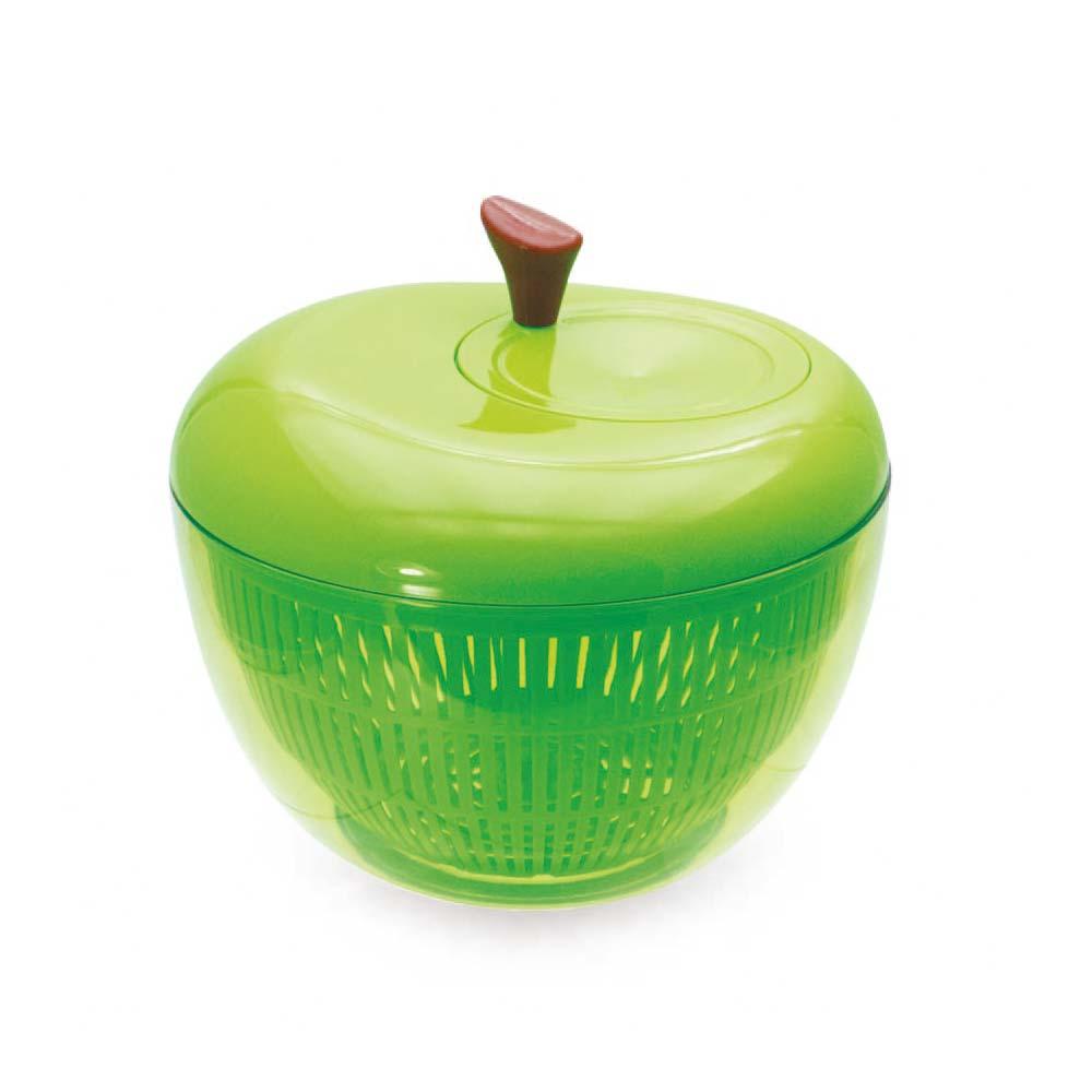 アップル サラダスピナー グリーン サラダスピナー 野菜 水切り プレゼント キッチン雑貨 おしゃれ