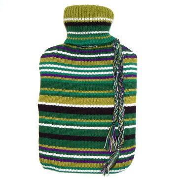 ホットウォーターボトル(マルチ L)グリーン 湯たんぽ カバー かわいい おしゃれ 湯たんぽカバー あったかグッズ 足 温める グッズ 防寒 冷え性 対策