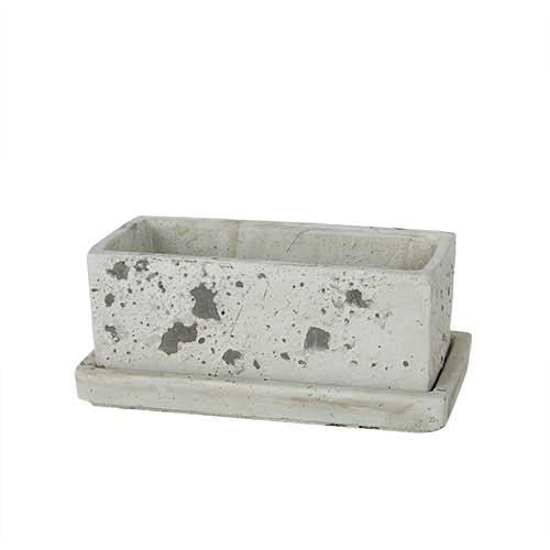 SOLID PLANTER RECTANGLE S R.GRAY ダルトン プランター 長方形 おしゃれ コンクリート 鉢 植木鉢
