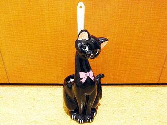 Restroom brush | Cat | Cat | Cat | Black cat litter brush
