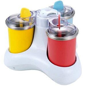 【送料無料】一度に3種類のアイスが作れるChuboos電動アイスクリーム器! 【送料無料】 貝印...
