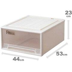 プラスチック衣装ケースの定番、Fitsケースのクローゼット収納ボックス(フィッツケース引き出...