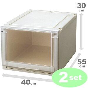 プラスチック衣装ケースの定番、Fitsunitのクローゼット収納ボックス(フィッツユニットケースf...