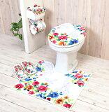トイレカバー トイレマット セット ジェンヌ 選べるトイレタリー5点セット 洗浄暖房型 普通型 おしゃれ ヨコズナクリエーション