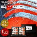 天然紅鮭「べっぴんさん」8切れセット【贈答用】【送料無料】鮭 サケ さけ サーモ