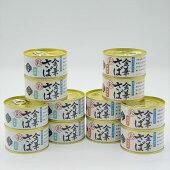 【送料無料】金華さば選べる水煮・味噌煮170g×12缶セット