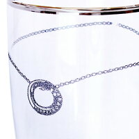ペアグラスビアタンブラープラチナ縁巻きグラスセットLARAChristieララクリスティーブランドギフト