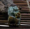 【翡翠手彫り彫刻ペンダント】 ・虎