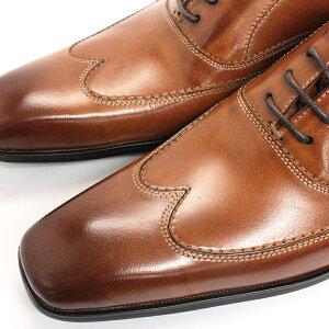 [ポイント5倍+送料無料・代引手数料無料+着後レビューで5%OFF][SARABANDEサラバンド]バッファローレザーボロネーゼ製法内羽根ウイングチップビジネスシューズ1373ボロネ—ゼ製法ビジネス本革革靴メンズ靴紳士靴【RCP】P27Mar15