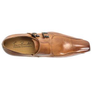 [ポイント2倍&送料無料+着後レビューで5%OFF][SARABANDEサラバンド]上向きラストバッファローレザーダブルモンクビジネスシューズ1382ビジネス本革革靴メンズ靴紳士靴【RCP】02P24Oct15