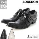 [送料無料]ショートブーツ[BOREDOM ボアダム]お兄系 ポインテッドトゥ クロスベルトドレスシューズ3253ブラック ホワイト お兄系 ブーツ スリッポン パーティー メンズ 靴 トンガリ