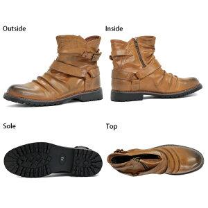 [送料無料]【Dedesデデス】メンズドレープリングブーツ5183【8000円2足セット対象】ブーツメンズ靴ベルトサイドジップbootsYOUNGzone】選べる福袋対象【RCP】02P01Mar16