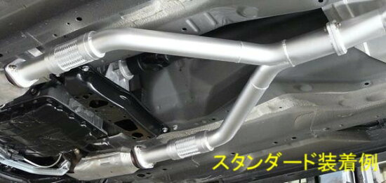 ZEESフロントパイプ・Y50/PY50/GY50フーガ・スタンダード:ハーフステンレス・