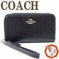 コーチ COACH 財布 iPhone スマホケース デジカメケース リストレット クロスグレ...